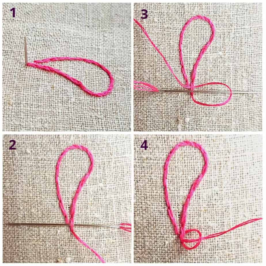 How to secure your embroidery thread once you have finished your embroidery thread.