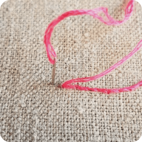 how to stem stitch by hand