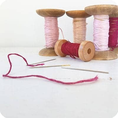 threading up and knotting your embroidery thread