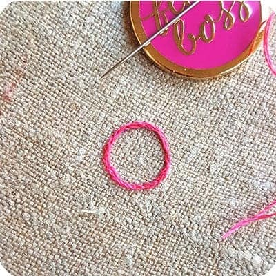 how to close your split stitched circle
