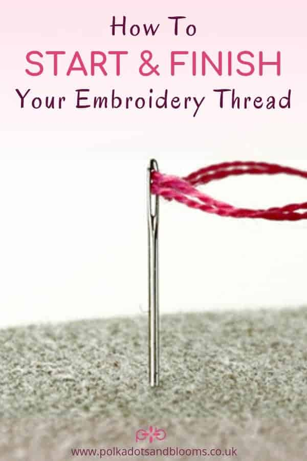 A step by step tutorial how to start and finish your embroidery thread. Including the holding stitch and waste knot method.