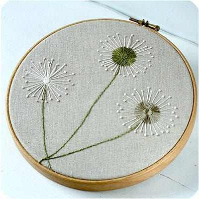how to stitch dandelions